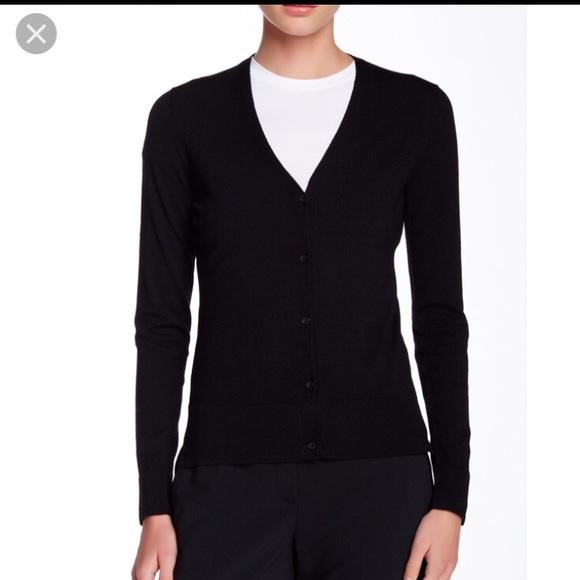 Theory Sweaters - Theory Black Cardigan